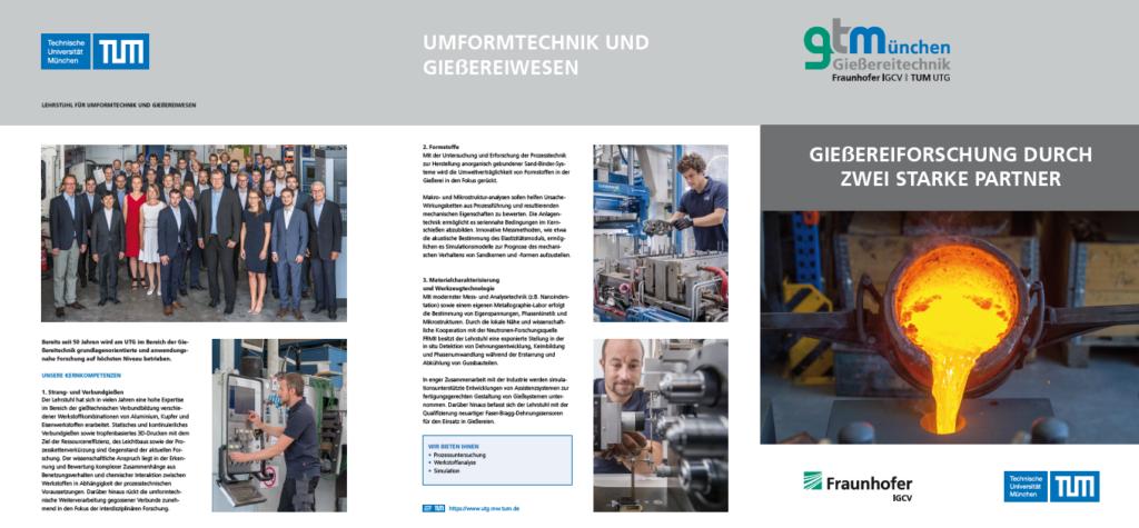 sechseitige Broschüre zur Giessereitechnik München